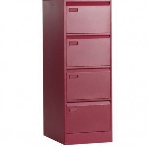 4 Drawer Filing Cabinet. red